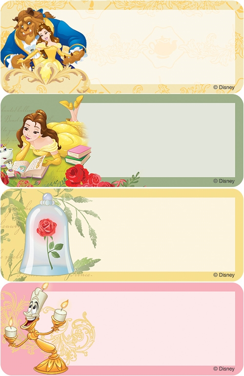 Beauty And The Beast Address Labels Costco Checks