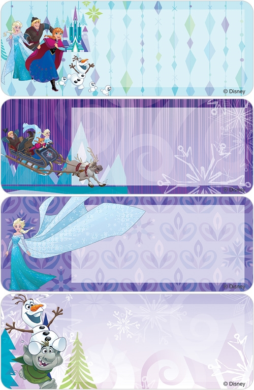Frozen Northern Lights Address Labels