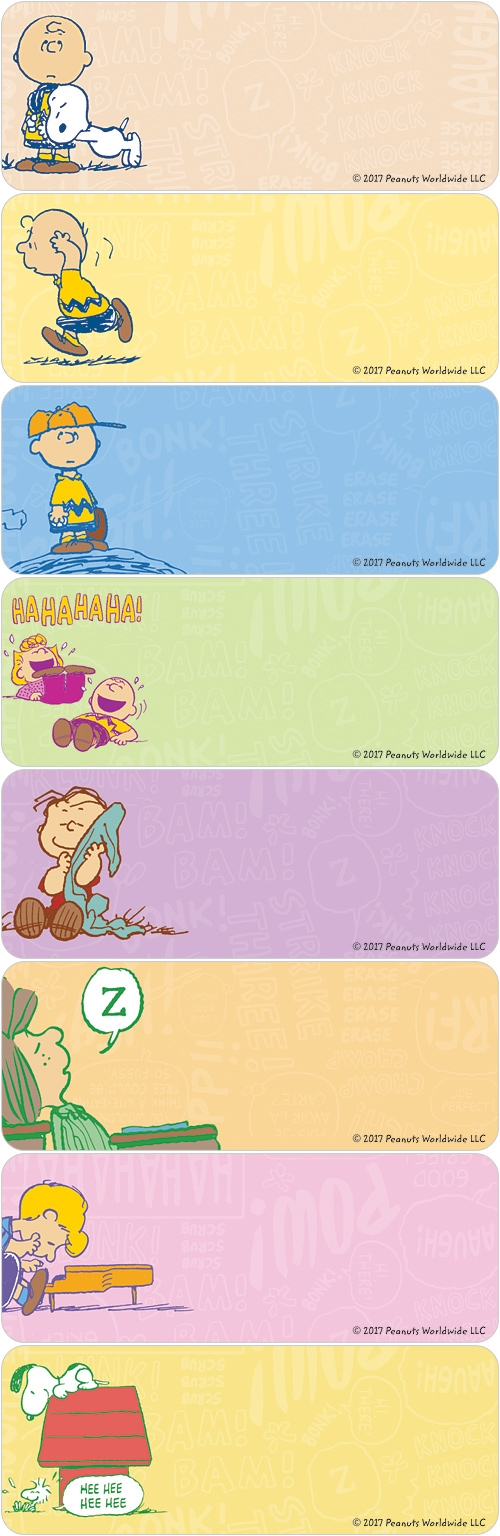 Charlie Brown Address Labels