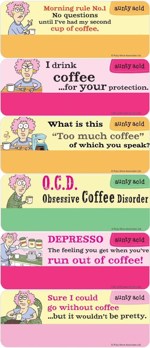 Aunty Acid Coffee Address Labels