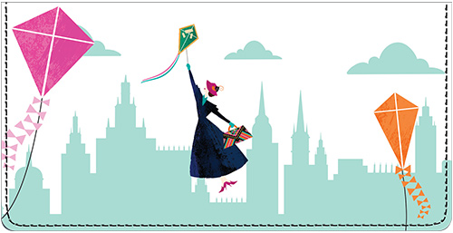 Mary Poppins Returns Leather Checkbook Cover