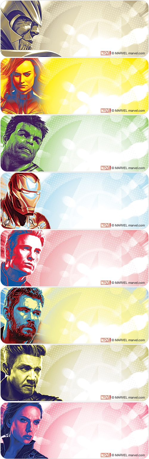 Marvel Avengers: Endgame™ Address Labels