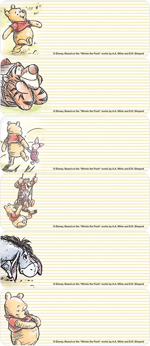 Winnie the Pooh & Friends Address Labels
