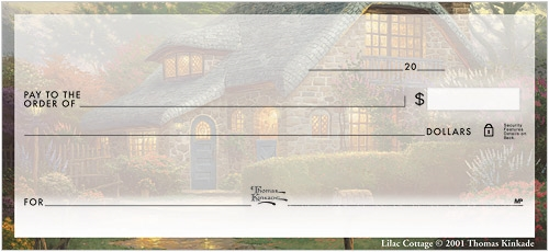 Thomas Kinkade Cottages Checks