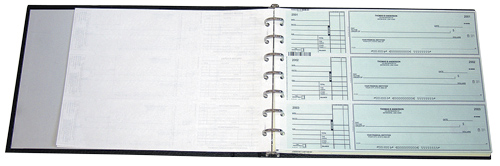 7 Ring Manual Business Check Binder