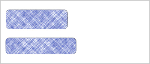 Self Seal Double Window Envelope
