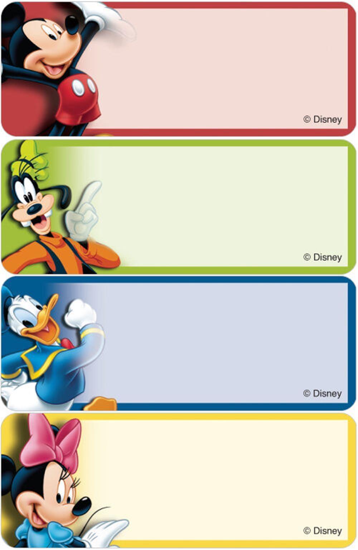 Character Design Pdf Free : Address labels disney mickey friends