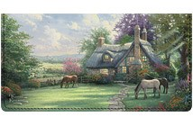 Thomas Kinkade Cottages Leather Cover