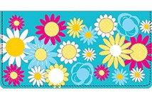 Bright Floral Leather Cover