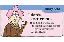 Aunty Acid Diet & Exercise Leather Cover