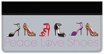 Peace, Love and Shoes Leather Cover