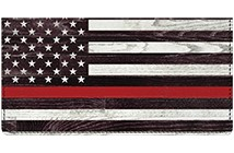 Support Your Firefighters Leather Cover