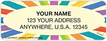 Cheerful Stripes Address Labels