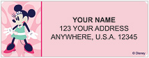 Minnie Mouse: Miss Mod Address Labels