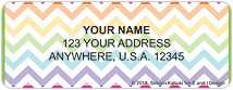Floral Chevron Address Labels