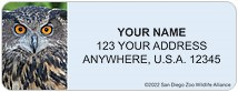 San Diego Zoo Owl Address Labels