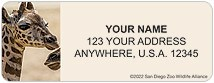 San Diego Zoo Giraffe Address Labels