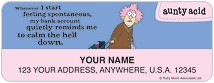 Aunty Acid Money Address Labels