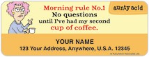 Aunty Acid Coffee Address Labels Thumbnail
