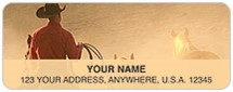 American Cowboys Address Labels