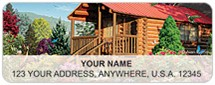 Log Cabins Address Labels
