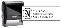 Monogram Address Stamp Thumbnail